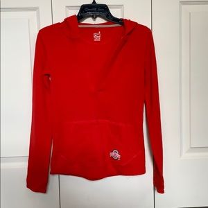 Ohio State Nike v-neck hoodie